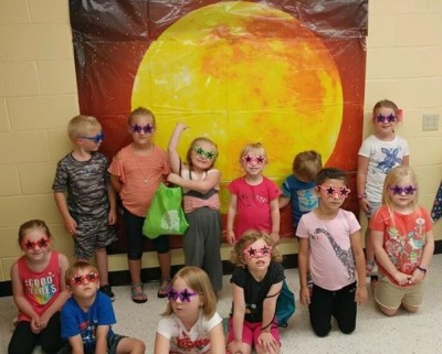 Our star-gazers in the afternoon Summer Reading Camp.